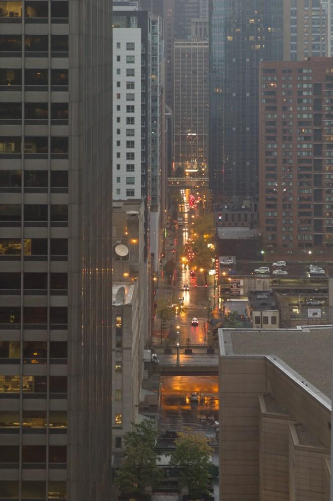 Horizontal Rain in Chicago