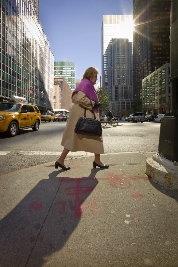 Epic woman on Park Avenue