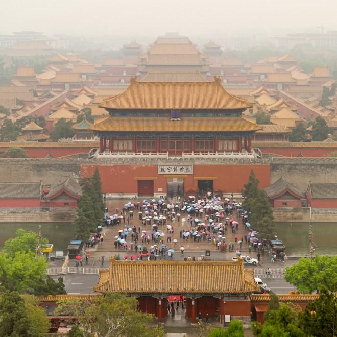 It rains on the Forbidden City