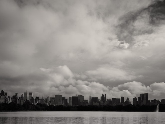 Storm clouds over Manhattan