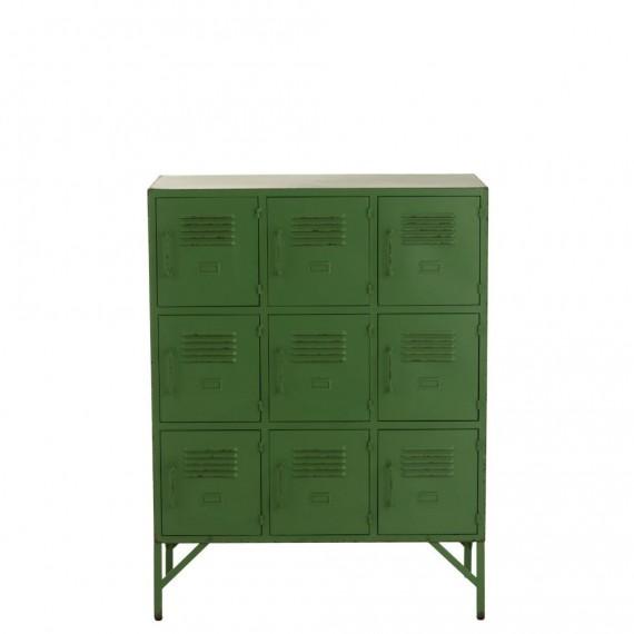 casier vestiaire 9 portes metal vert 86cm woodycosy com