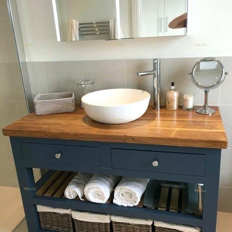 de travail salle de bain en bois massif
