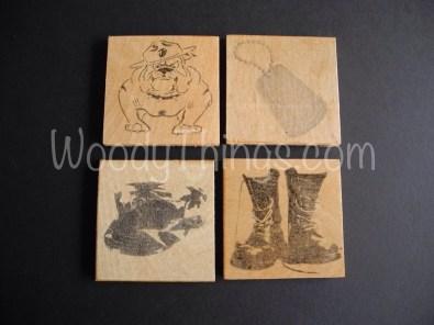 USMC Inspired Set of 4 Wooden Coasters