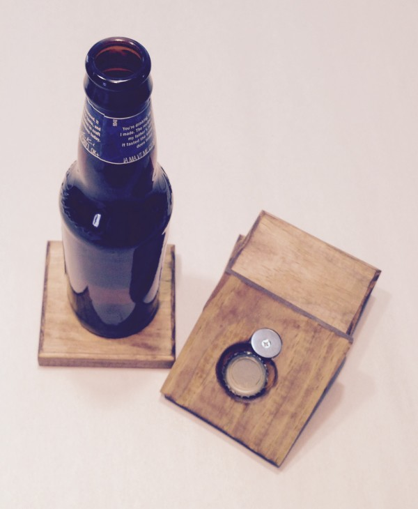 Wooden Bottle Opener Coaster