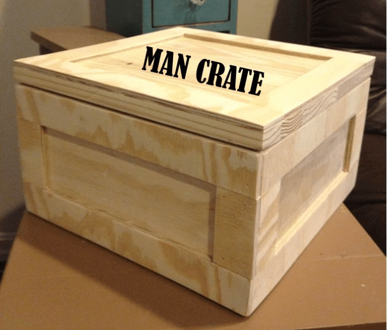 Diy manly crate gift box ideas woody things llc for Build your own walk in beer cooler