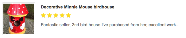 Decorative Birdhouse Customer Review