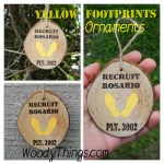 Yellow Footprint Ornaments