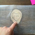 Heart shaped transfer