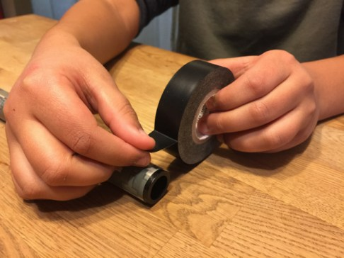Roll Electrical Tape on Both Ends