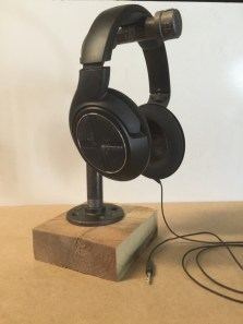 Industrial Pipe Headphone Stand quarter front_Fotor