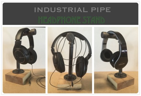 Inudstrial Pipe Headphone Stand Feature Collage2