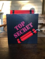 Top Secret Spy Shadowbox Front View