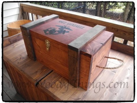 WoodyThings Military Chest and Shadow Box 3