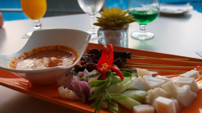 Delicious Malay food at the Flamingo by the beach hotel in Penang