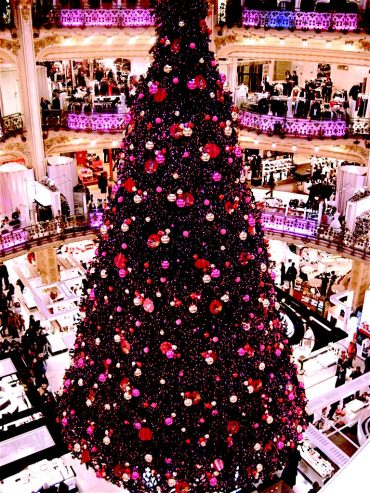 Christmas decorations at Galleries Lafayette Paris, France