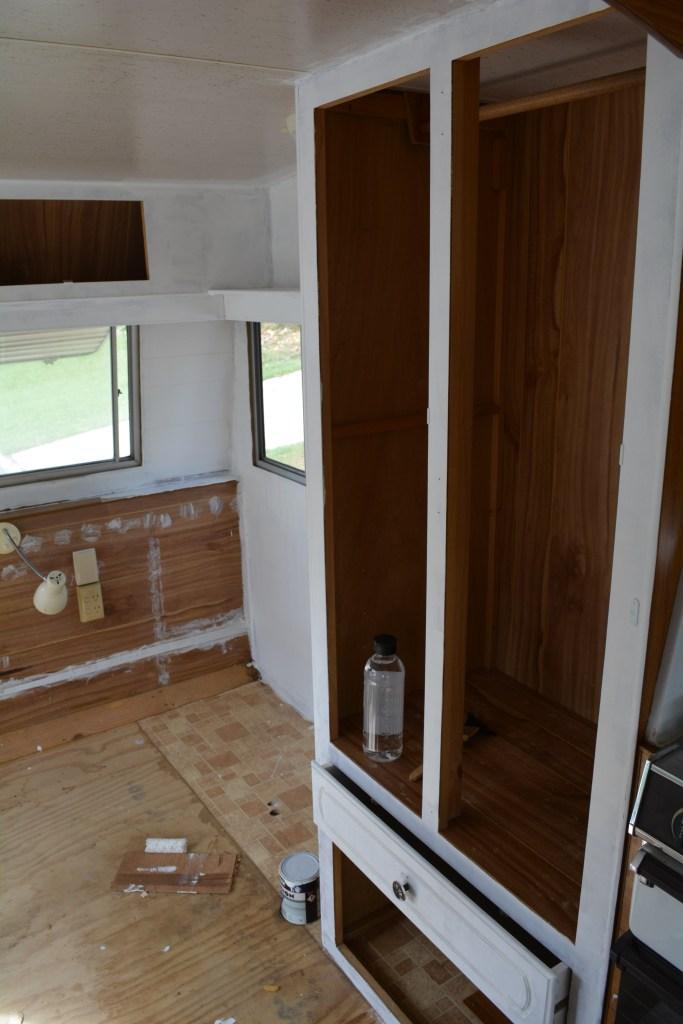 DIY Caravan Renovation Painting