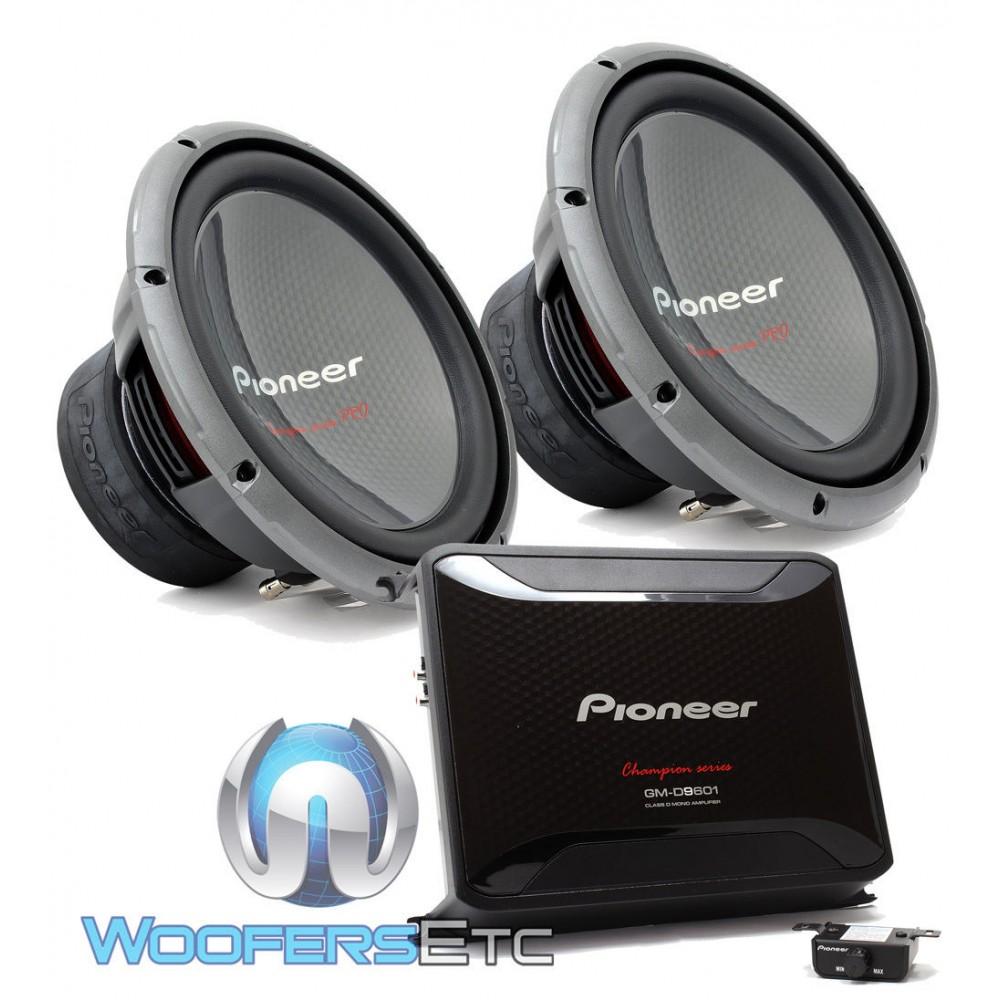 hight resolution of pkg pioneer gm d9601 monoblock 2400w max class d car amplifier pair of ts w3003d4