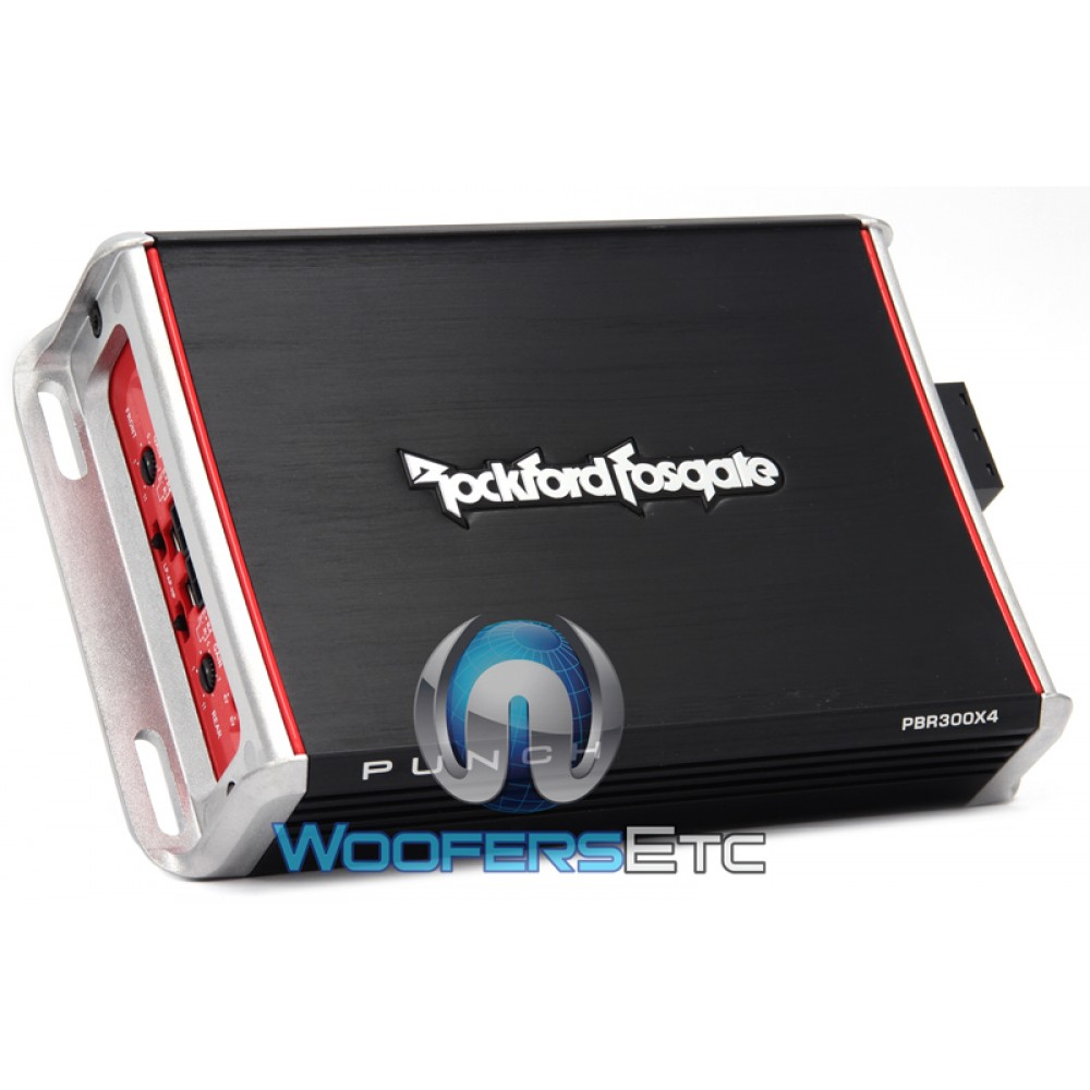 medium resolution of rockford fosgate pbr300x4 4 channel 300 watt punch series booosted rail motorcycle amplifier