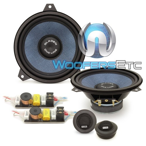 small resolution of gladen one 165 bmw e46 6 5 100w rms 2 way component speakers system for