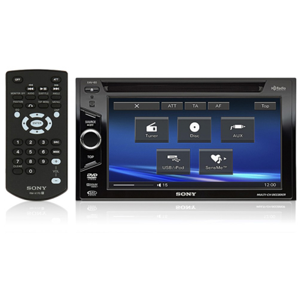 medium resolution of xav 60 sony double din 6 1 tft lcd touchscreen monitor w dvd receiver with usb ipod controls