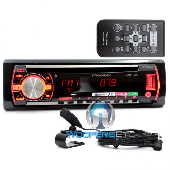 Deh X6500bt Pioneer In Dash Cd Mp3 Usb Car Stereo Receiver
