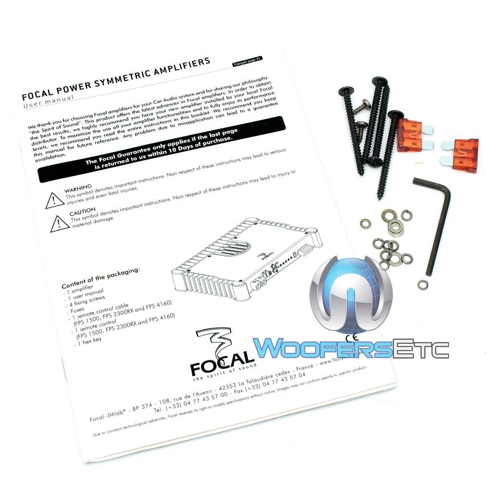 Focal FPS 1500 800W RMS Class D Symmetric Car Subwoofer