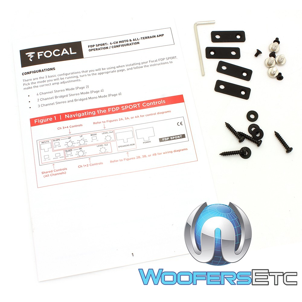 hight resolution of focal fdp sport 4 channel motorcycle and all terrain amplifier close the speaker wiring