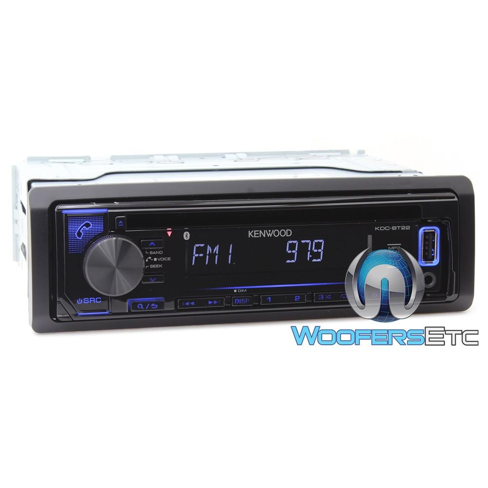 Kenwood KDC-BT22 In-Dash 1-DIN CD Receiver with Bluetooth