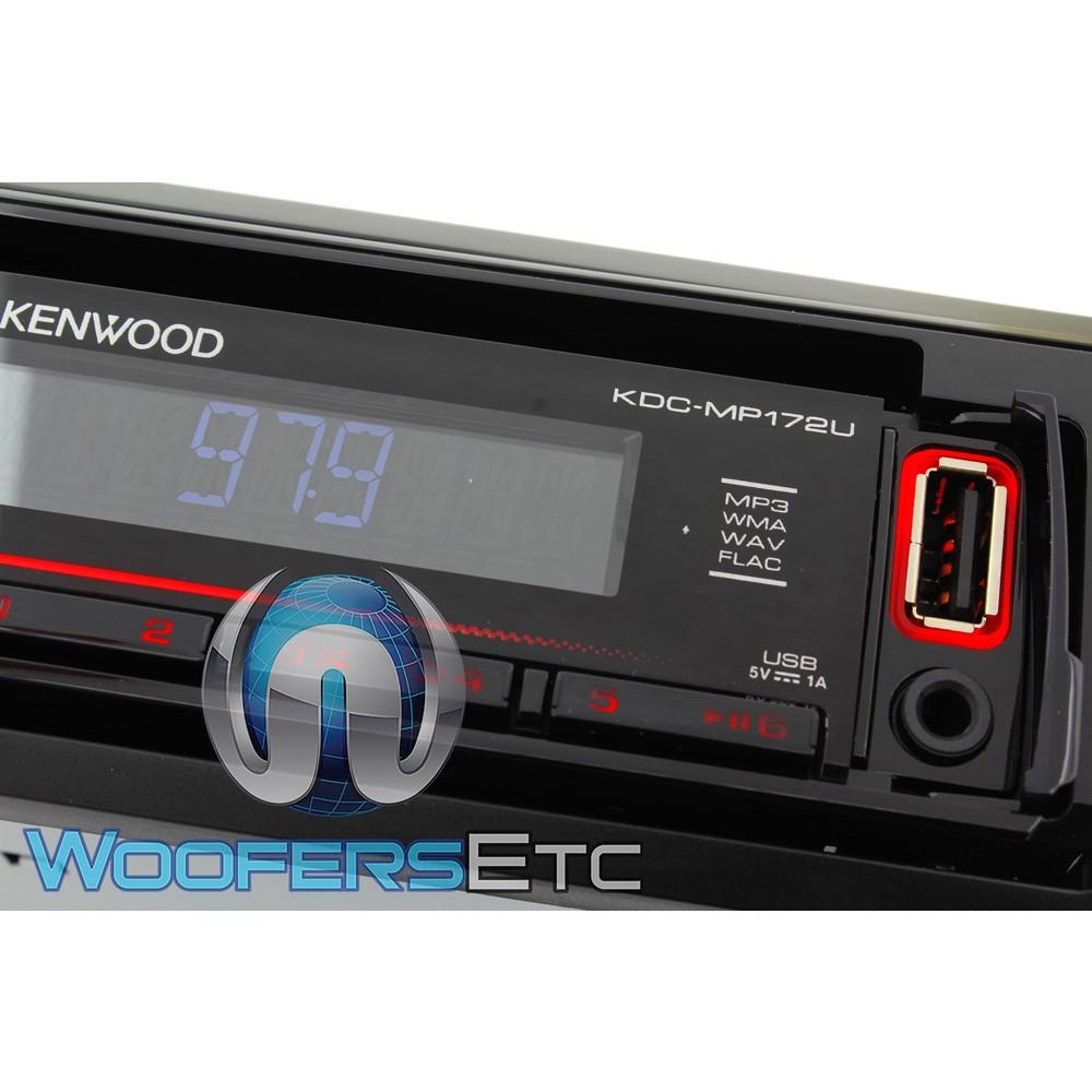 Kenwood KDC-MP172U In-Dash 1-DIN CD Car Stereo Receiver