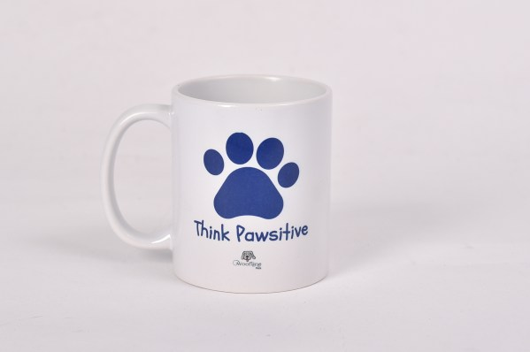 Blue - Think Pawsitive Mug