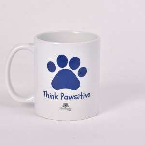 Blue - Think Pawsitive Mug