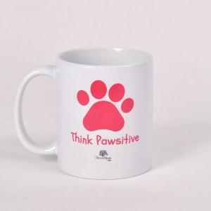 Pink - Think Pawsitive Mug