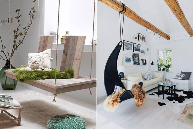 25 Examples of Indoor Swings Turn Your Home Into a