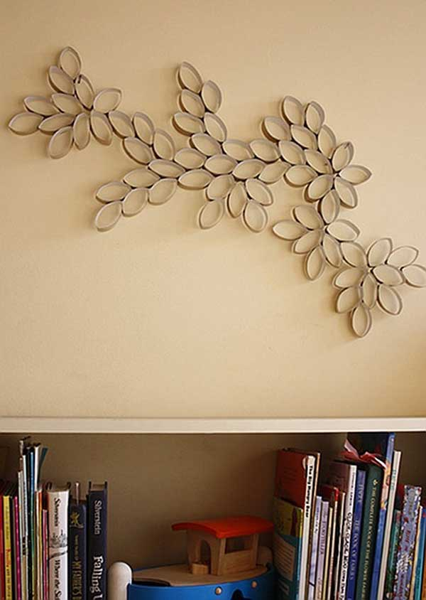 28 diy wall art toilet paper rolls projects to enhance for Four blank walls