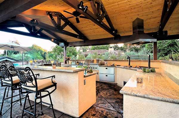outdoor kitchens ideas kitchen fixtures 哓气婆 户外厨房的想法让你享受你的空闲时间 新浪博客 14