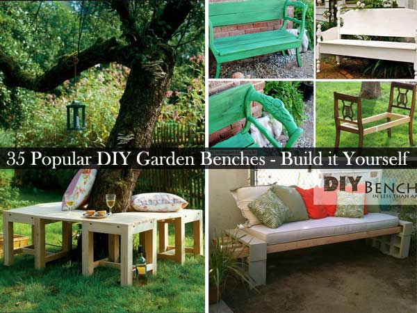 35 Popular DIY Garden Benches You Can Build It Yourself