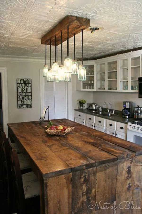 32 Simple Rustic Homemade Kitchen Islands