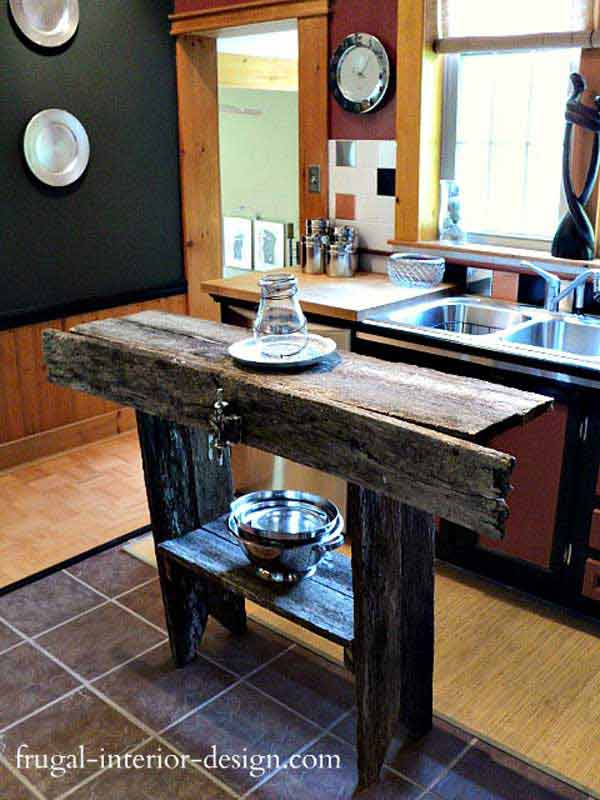kitchen islands ideas hickory cabinets 32 simple rustic homemade amazing diy interior 2