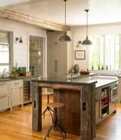 32 Simple Rustic Homemade Kitchen Islands   Amazing DIY ...