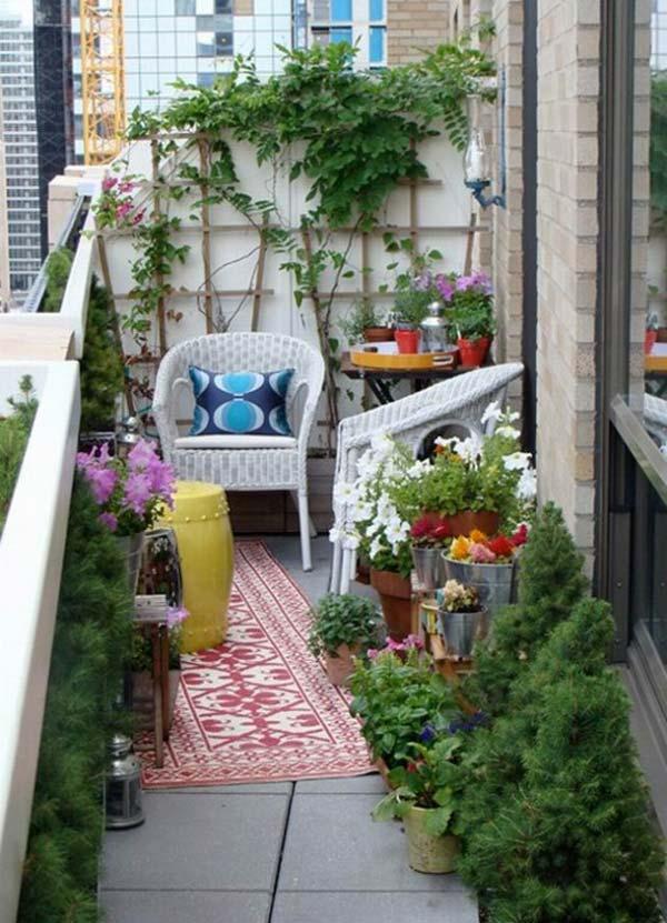 small apartment balcony garden ideas - Apartment Patio Garden Ideas