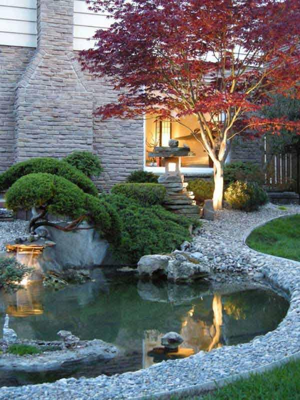 backyard and garden pond design