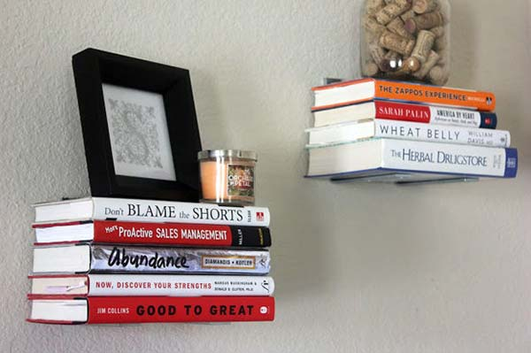 Books as Decoration Book Decor Shelves Home Library DIY Project Wall Art Picture Frame Candle Holder