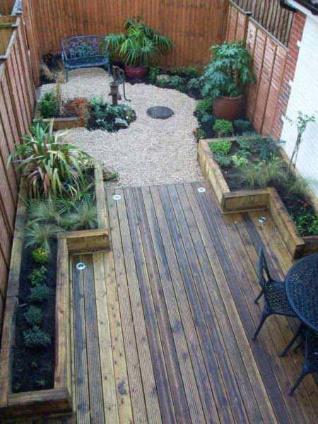 small backyard patio design ideas 18 Clever Design Ideas for Narrow and Long Outdoor Spaces