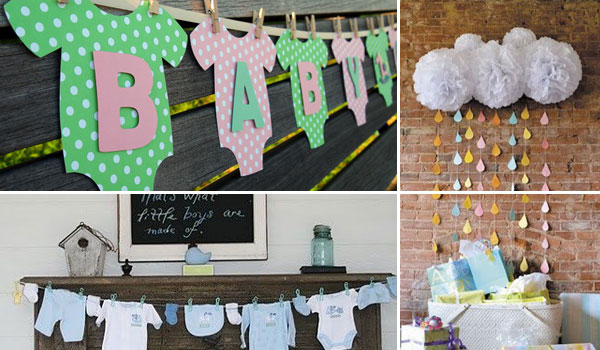 Diy Centerpieces For A Baby Shower Wall