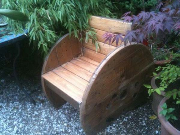 Wooden Spool Chair