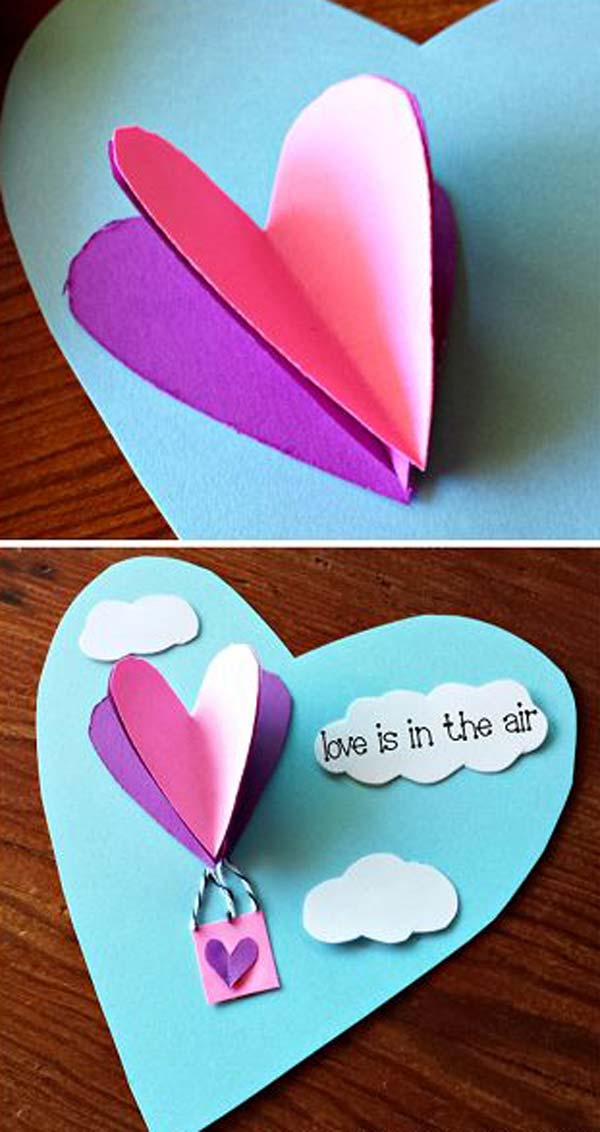 32 Easy and Cute Valentines Day Crafts Can Make Just One Hour  Amazing DIY Interior  Home Design