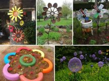 Truly Easy and Low-budget DIY Garden Art Flowers - Amazing ...