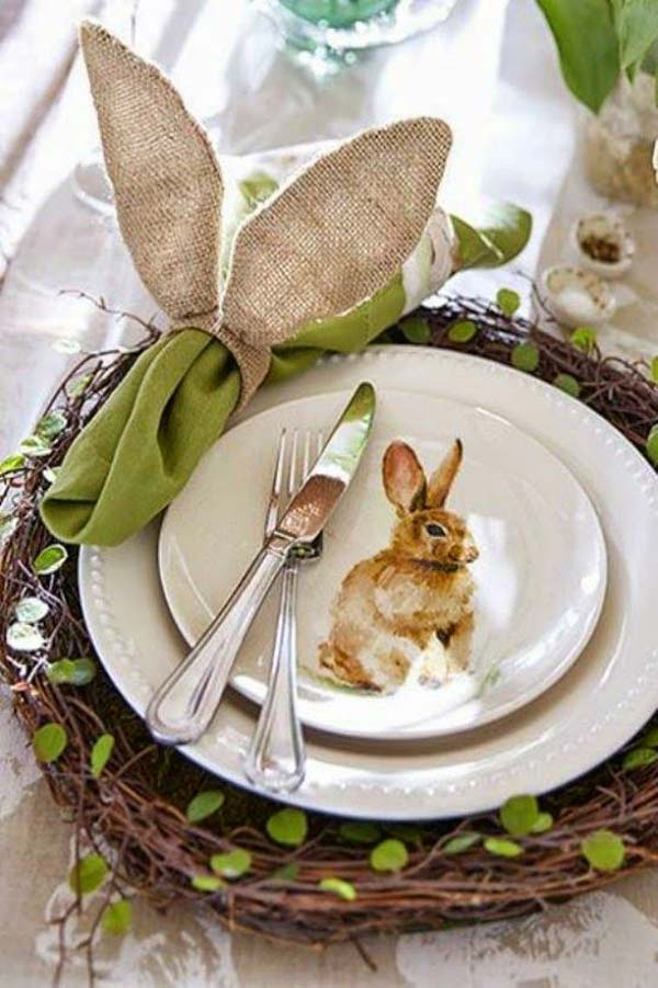 kitchen window ideas silver cabinet knobs top 47 lovely and easy-to-make easter tablescapes ...