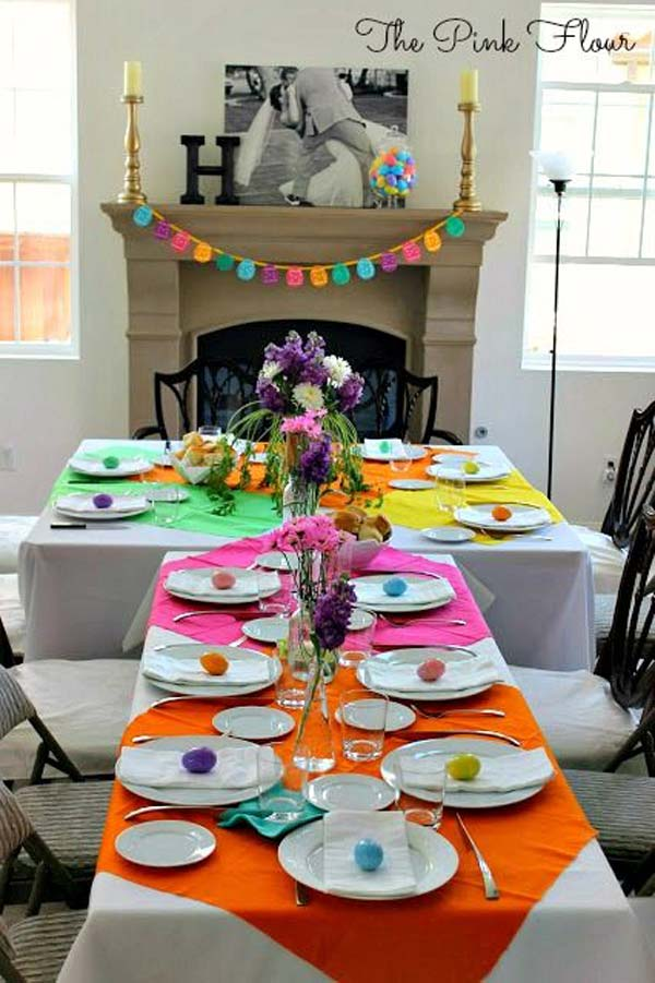farmhouse kitchen tables restaurant design top 47 lovely and easy-to-make easter tablescapes ...