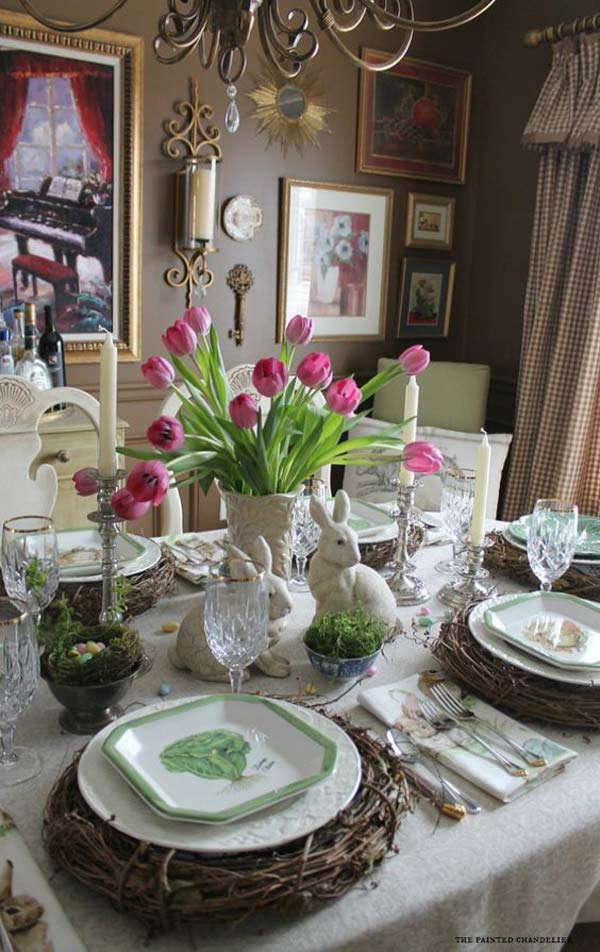 Top 47 Lovely and EasytoMake Easter Tablescapes